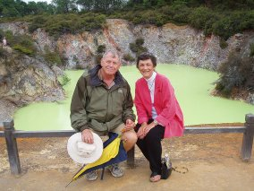 Marcia and Barry in New Zealand